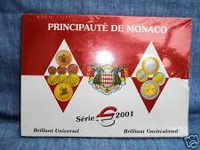PRINCIPAUTE DE MONACO / BRILLAND UNIVERSEL / SERIE 2001 SOUS BLISTER /NON OUVERT