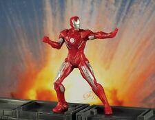 Marvel Superhero Iron Man Silver Centurion Avenger Figure Model Cake Topper K789