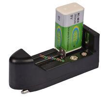 1x 9V BTY 300mAh Ni-MH batería recargable PPS +18650 16340 14500 GTL Cargador EU