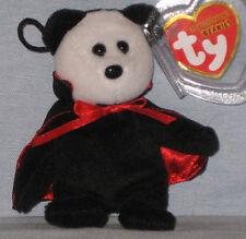 TY TWILIGHT the VAMPIRE BEAR HALLOWEENIE BEANIE BABY - MINT with MINT TAGS