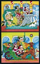 [105810] Dominica 1990 Disney Christmas Mickey Goofy 2 Souv. Sheets MNH