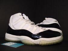 2005 Nike Air Jordan XI 11 Retro DMP WHITE BLACK GOLD CONCORD 136046-171 11.5