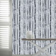 FROSTED WOOD WALLPAPER ROLLS - ARTHOUSE 670200 SILVER BIRCH FOREST