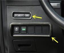 2pcs Carbon Fiber Multi-function Button Decoration Trim For Nissan Murano 2015+