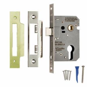Euro Profile Mortice Sash Cylinder Lock Case External Lever Door Body 64 or 76mm