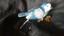 NWT Creative Co-Op Pewter Bird Jewelry Box- Blue Bird