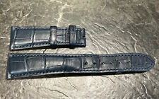 Patek Philippe Navy Blue Alligator Leather Strap E88 21.0/16.0- 125/65
