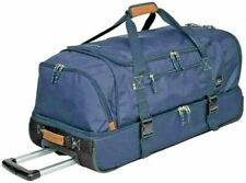 The Skyway Luggage Co 2 Compartment Rolling Duffel Bag over 3 cubic ft Navy Blue