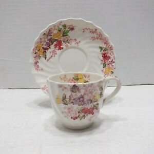 Vintage Copeland Spode Demitasse Teacup and Saucer Fairy Dell