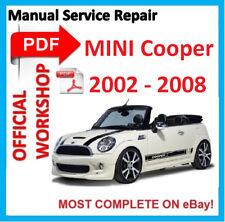 #OFFICIAL WORKSHOP MANUAL service repair FOR MINI COOPER S CONVERTIBLE 2002-2008