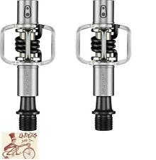 """CRANK BROTHERS EGG BEATER 1 BLACK CLIPLESS 9/16"""" 3-PIECE CRANK BICYCLE PEDALS"""