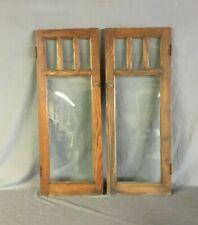 Antique Pair Chestnut 15x40 Cabinet Cupboard Arts & Crafts Doors Vtg 82-20B