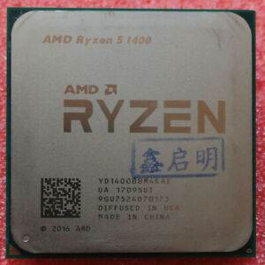 AMD Ryzen 5 1400 CPU  YD1400BBM4KAE 3.2GHz Quad-Core Socket AM4 Processor
