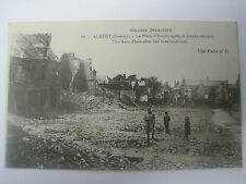 Carte postale 1ère GUERRE ALBERT ( SOMME ) Place d'Armes après bombardement N°77