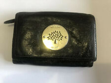 Mulberry Daria Genuine Black Soft Leather French Purse/Wallet