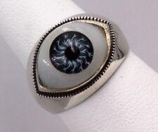 Evil Eye Ring Size 6.5 Vintage Sterling Silver 925 Milgrain
