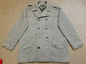 Mens FILSON Fairmount Double Breasted Wool Peacoat Coat Jacket Gray Large L USA