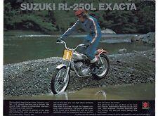 1974 Suzuki RL-250L Exacta Trials  motorcycle sales brochure, (Reprint) $7.50