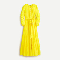 J.Crew Belted button-up maxi dress in Bitter Lemon