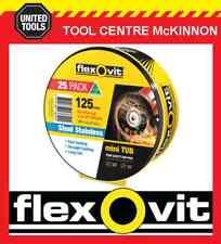 """FLEXOVIT MINI TUB – 25 X 125mm / 5"""" MEGA-LINE ULTRA THIN METAL CUT-OFF WHEEL"""