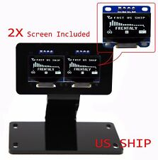 """2X 0.96"""" I2C IIC Serial 128X64 LED OLED LCD  Display & Stand Mount For Arduino"""