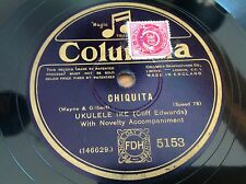 78 rpm- UKULELE IKE (CLIFF EDWARDS) Chiquita - COLUMBIA 5153