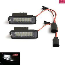 2x LED License Number Plate Light Lamp Error Free For VW GOLF MK4 MK5 Passat EOS
