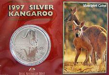 1997 KANGAROO SILVER 1oz Coin Carded