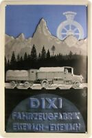 DIXI fahrzeugfabrik EISENACH LETRERO DE METAL EN RELIEVE 20 x 30cm #