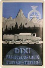 DIXI Fahrzeugfabrik Eisenach Blechschild geprägt 20 x 30 cm *