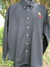 Kraft Pizza Company Black Button Down Dress Uniform Shirt Forsyth Mens Size 2XL