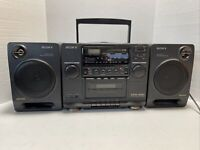 Vintage Sony CFD-440 Portable AM/FM Stereo CD & Cassette Player Boom Box