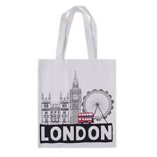 British London Icons Bus Eye Big Ben Large Shopper Canvas Cotton Tote Bag