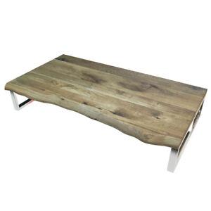Waschtischplatte mit Baumkante Holzplatte Regal massiv 40mm Eiche Natur geölt