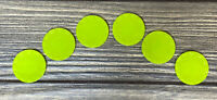 Vintage Barbie Deluxe Kitchen 1960's 6 Green Small Plates Replacement Part Piece