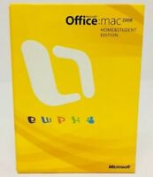 Microsoft Office 2008 Mac Home Student  Edition Software Box Product Key