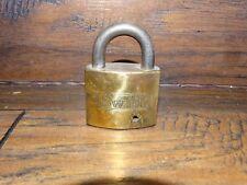 19773M Vintage SWIFT  Brass Padlock ~ Antique Pad Lock  /  No Key Eagle Lock Co