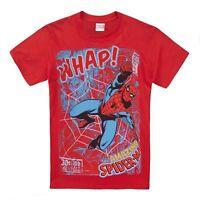 Official Marvel Comics Boys T-shirt - Superhero Spiderman - Kids Tops Red