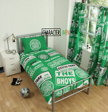 CELTIC FC SINGLE DUVET QUILT COVER SET FOOTBALL CLUB - BOYS FANS KIDS BED