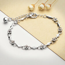 NEW Fashion Women Silver Plated Lovers Crystal Bracelet Jewelry Charm Gift X32