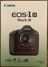 Canon EOS-1D Mark III Instruction Owners Manual Book - Excellent