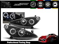 FARI ANTERIORI HEADLIGHTS LPPE10 PEUGEOT 307 2001 2002 2003 2004 2005 ANGEL EYES