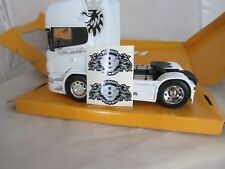 SCANIA TOPLINE GRIFFIN 1/32 DECALS STICKERS SILVER BLACK WELLY MARGE SIKU CODE 3