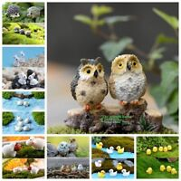 10pcs Miniature Animals Fairy Garden Landscape Figurine Bonsai Pot Fish Tank DIY