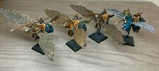 Warhammer - Bretonnia - Pegasus Knights x 4  Painted - Fireforge Miniatures