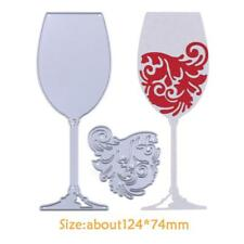 Wine Glass Metal Cutting Dies Stencils DIY Scrapbooking Photo Album Card Crafts