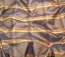 """Blue & Beige PLAID Silk TAFFETA Fabric  fat 1/4 18""""x27"""" remnant"""