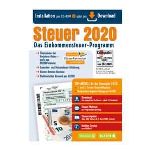 Aldi Steuer CD 2020 Programm Elster Steuererklärung Steuersoftware mit RECHNUNG