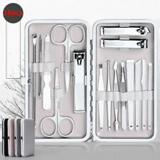 16pcs Pro Stainless Steel Nail Clipper Kits Manicure Pedicure Grooming Tools Set