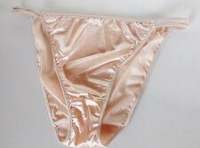 Cream Blush Silky Nylon Satin String Bikini Panties Tanga Knickers 22